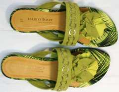 Зеленые шлепанцы на лето женские Marco Tozzi 2-27104-20 Green.