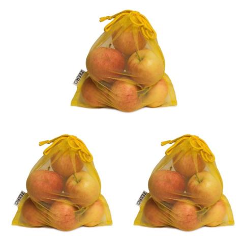 Набор маленьких жёлтых экомешочков