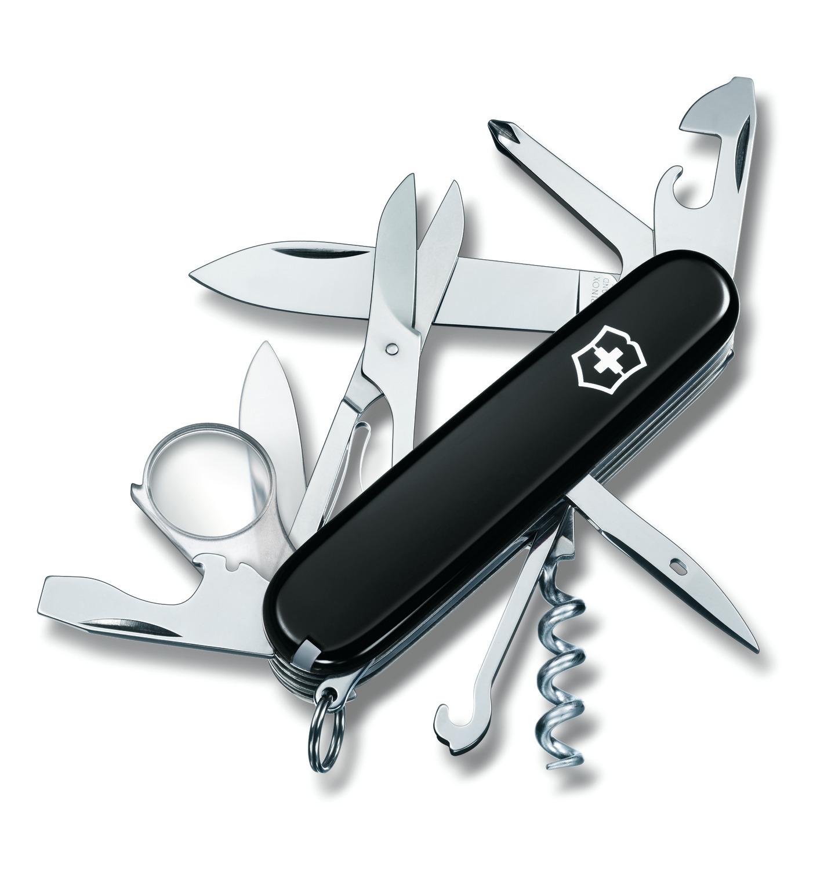 Складной нож Victorinox Explorer Black (1.6703.3) 91 мм., 16 функций, цвет чёрный - Wenger-Victorinox.Ru