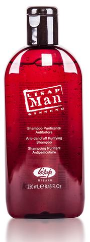 Шампунь для волос против перхоти для мужчин «Lisap Man Anti-Dandruff Purifying Shampoo»