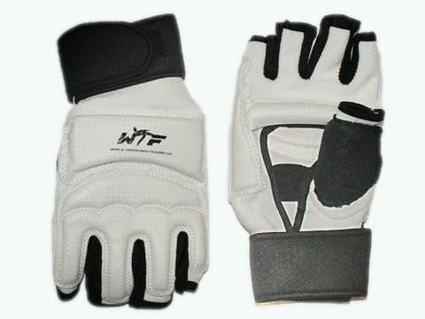 Перчатки для тхеквондо с напульсником на липучке. Размер S. :(ZZT-004S):