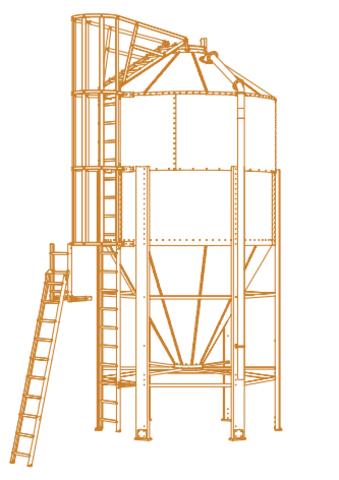 11,81м3 | Бункер оцинкованный для хранения комбикорма