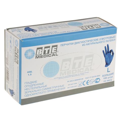 Латексные перчатки BTE MEDICAL (50пар)
