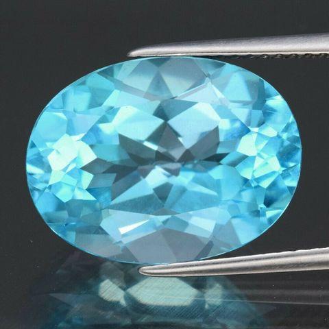 Большой яркий голубой топаз 12,7 карат