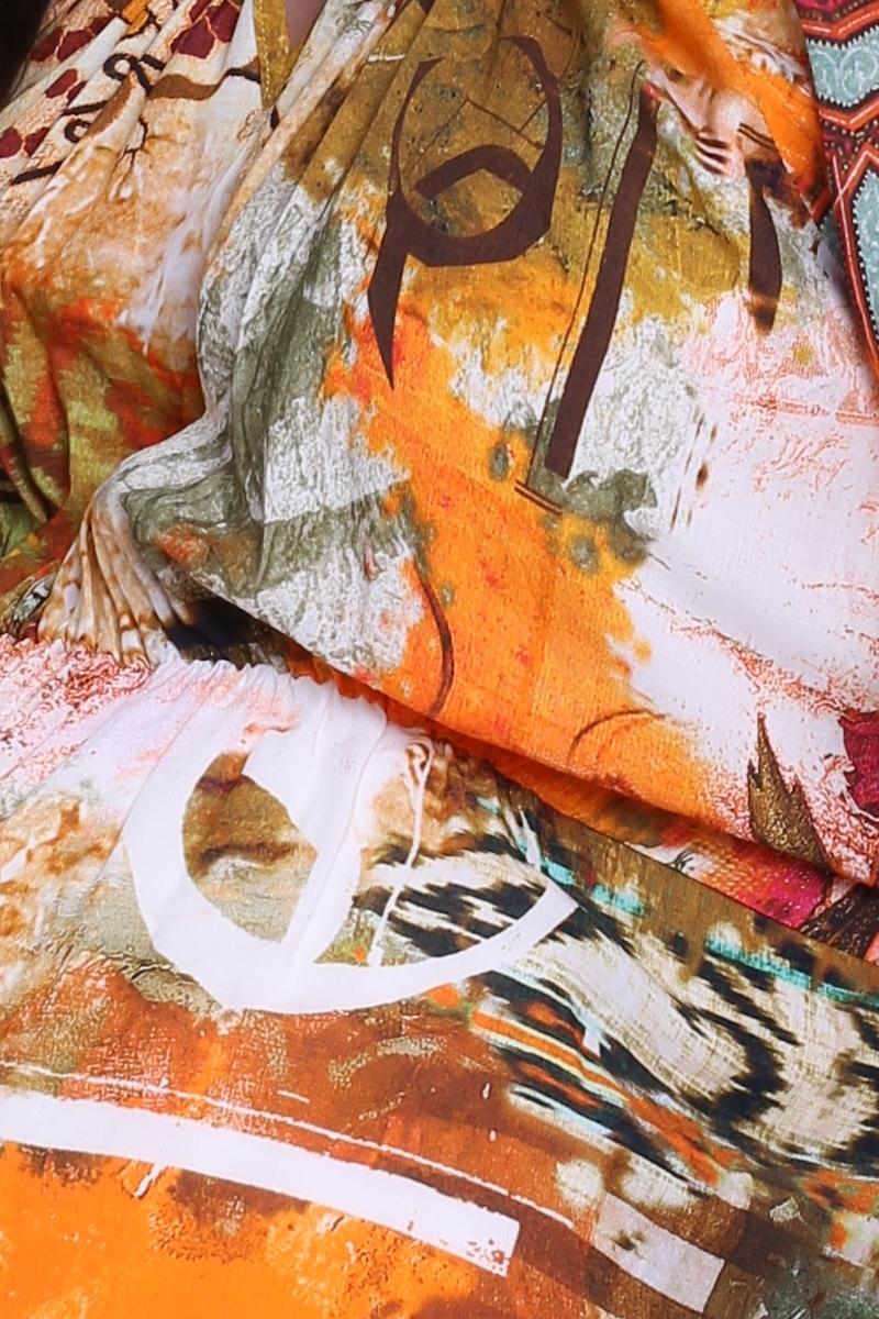 Фото платье для беременных EBRU, длинное от магазина СкороМама, оранжевый, размеры.