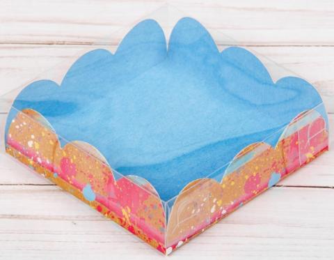 060-0101 Коробка для кондитерских изделий с PVC-крышкой «Ярких эмоций», 10,5 × 10,5 × 3 см