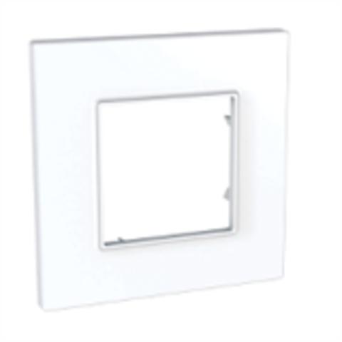 Рамка на 1 пост. Цвет Белый. Schneider Electric Unica Quadro. MGU2.702.18