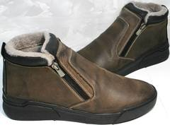 Мужская зимняя обувь Rifellini Rovigo 046 Brown Black.