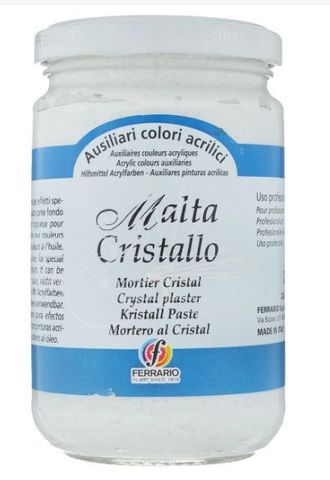 Паста текстурная Ferrario MALTA, эффект: Кристаллическая эмаль, 300 мл
