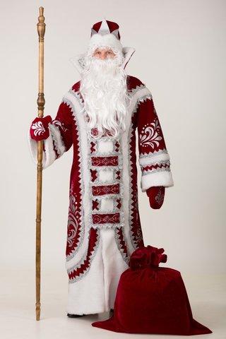 Костюм Деда Мороза Купеческий красный
