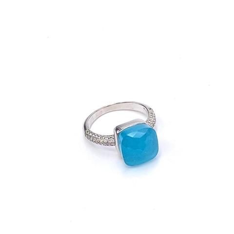 33353- Кольцо из серебра Caramel