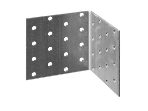 Уголок крепежный равносторонний УКР-2.0, 80х60х60 х 2мм, ЗУБР