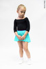 Kids set: 2 Sleeves leotard black + skirt