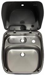 Раковина со стекл. крышкой DOMETIC CRAMER CE99 B-HI/27-I-G, ВхШхГ: 150.7x420x445мм