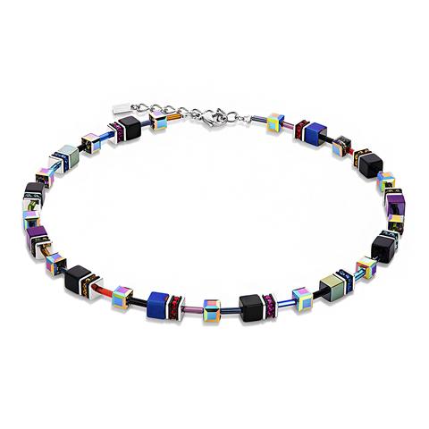Колье Coeur de Lion 4014/10-1500 цвет мультиколор, фиолетовый, синий, чёрный
