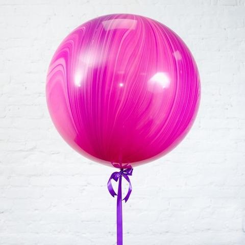 Большой шар-гигант Агат розовый