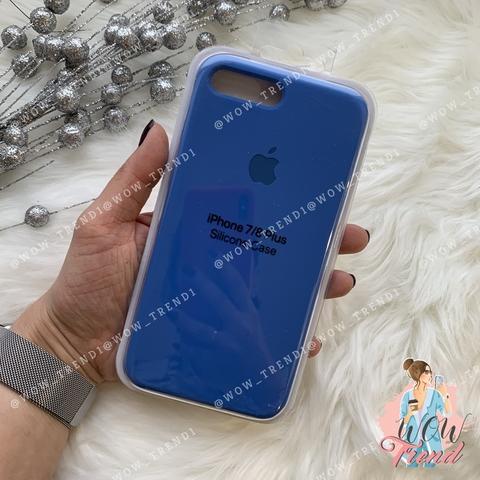 Чехол iPhone 7+/8+ Silicone Case /royal blue/ ярко-синий 1:1