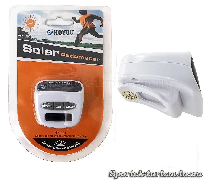 Крокомір кишеньковий (на пояс) Solar Power HY-02T з лічильником калорій на сонячних батарейках