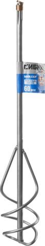 Миксер СИБИН для песчано-гравийных смесей, SDS+ хвостовик, 60х400мм