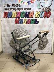 Санки-коляска Nika (арт. НД7-1Б) с ромбиками серый