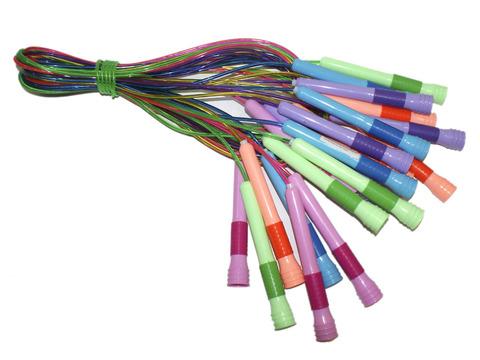 Скакалка (шнур силикон, ручки пластик) 2,2 м. Продажа только упаковкой 10 шт. 1933