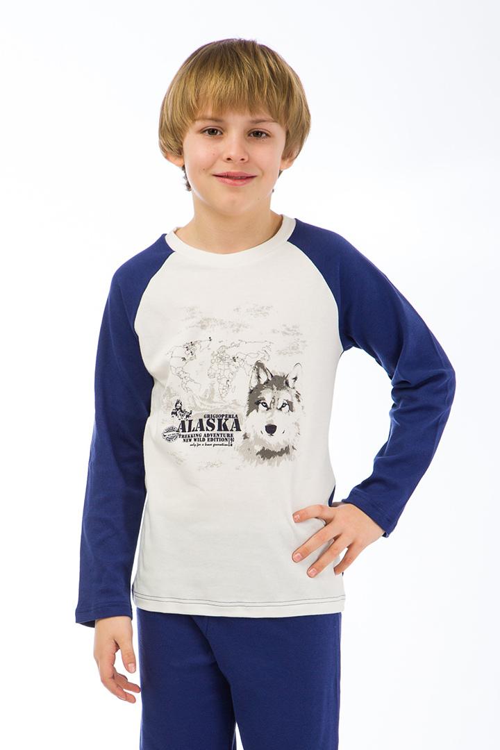 Хлопковый домашний костюм для мальчиков GrigioPerla