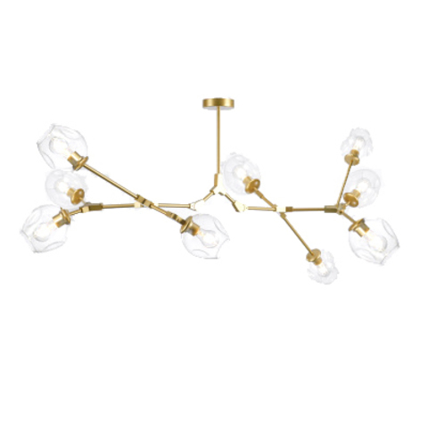 Потолочный светильник копия Branching Bubble by Roll & Hill (Lindsey Adelman) (9 плафонов, золотой)
