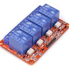 Релейный модуль с опторазвязкой 5В 10A, 4 канала