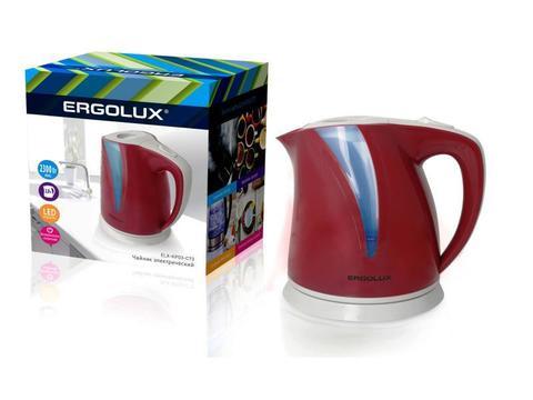Чайник Ergolux ELX-KP03-C73 вишневый/св. серый