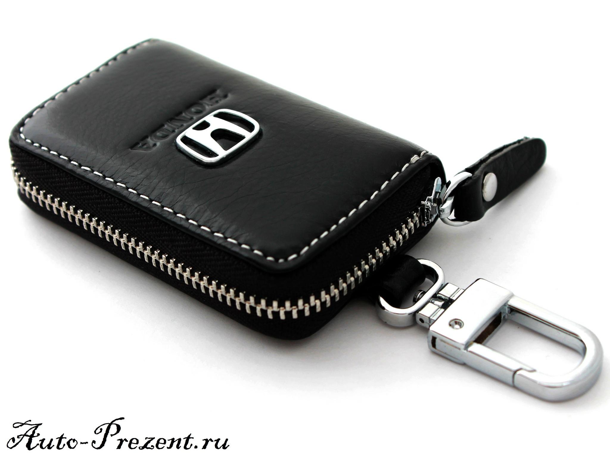 Кожаный чехол для ключа с логотипом HONDA
