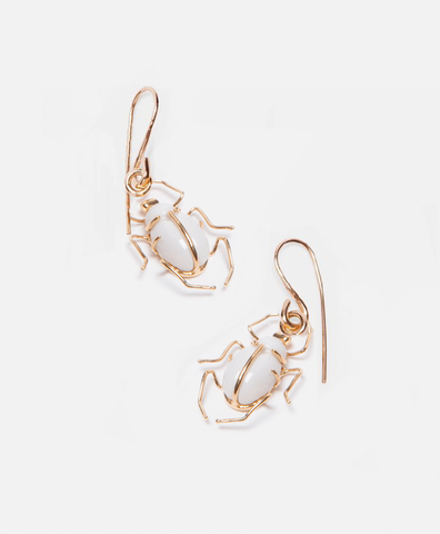 Серьги SCARAB HOOK EARRINGS PAIR