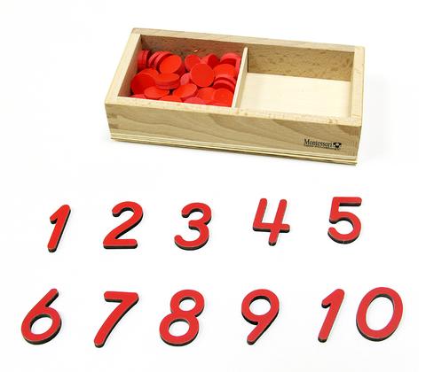 4.39 Цифры и чипсы Монтессори-Питер
