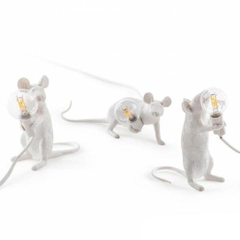 Настольный светильник копия Mouse by Seletti (белый)