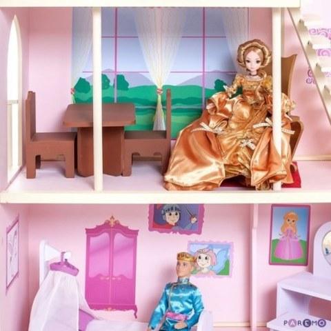 Кукольный дворец Paremo Розовый сапфир с 16 предметами мебели и текстилем PD316-05