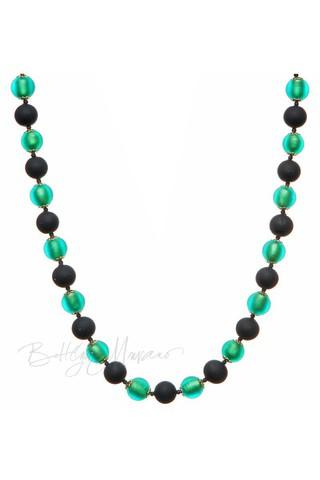 Ожерелье Domino изумрудное матовое