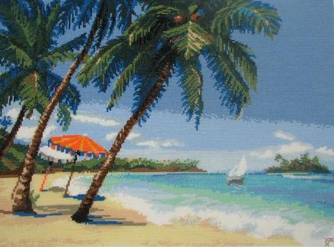морской-пейзаж-с-пальмами