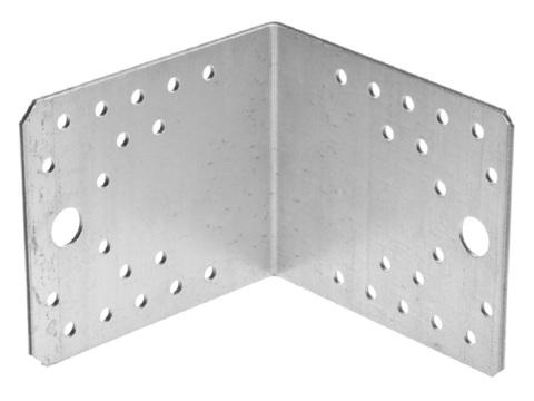 Уголок крепежный УК-2.5, 80х100х100 х 2.5мм, ЗУБР
