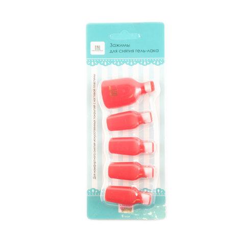 Зажимы для снятия гель-лака на ногах (5 шт/упак) красные
