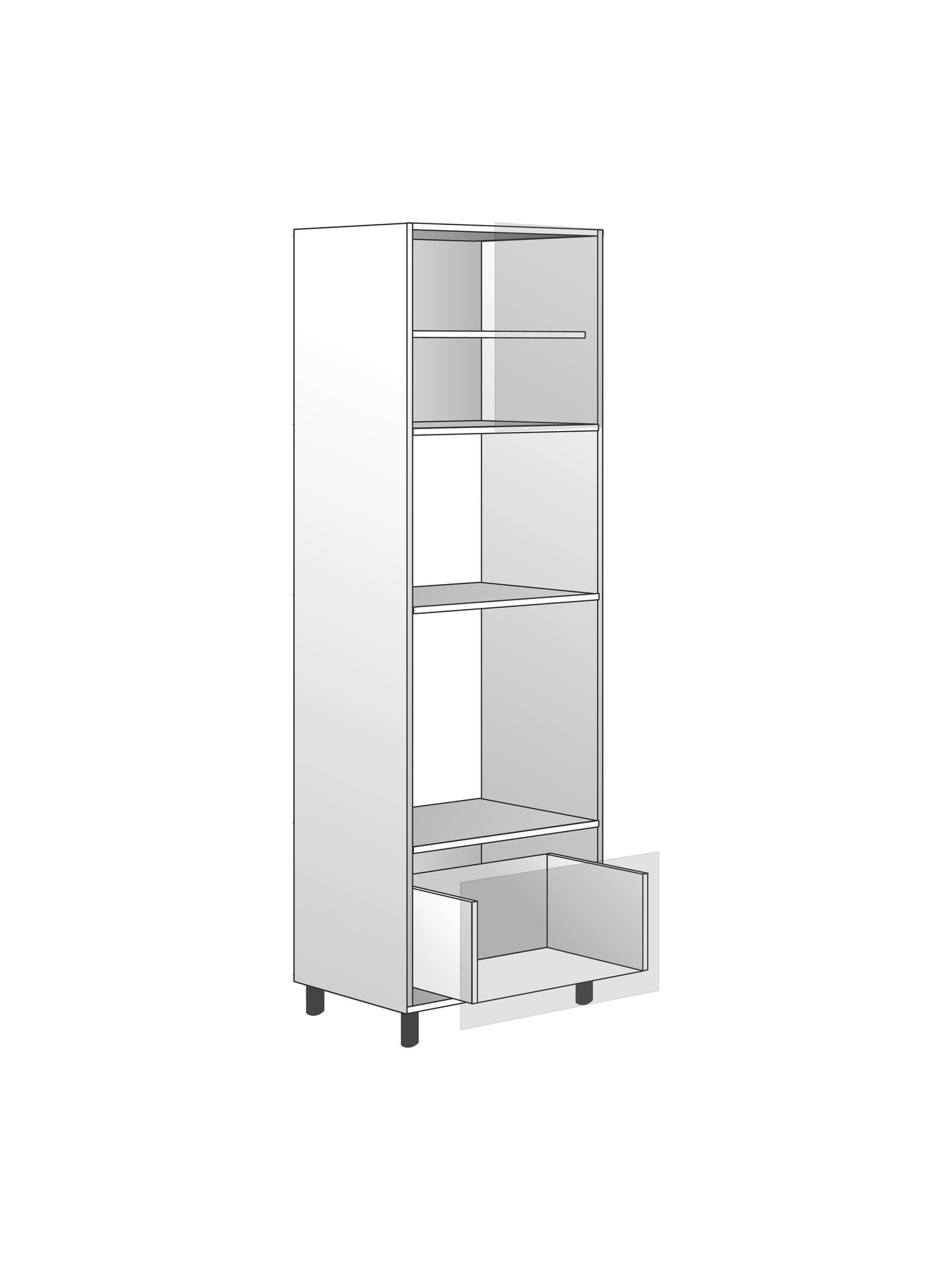 Напольный шкаф для духовки и микроволновки, 1920Х600 мм