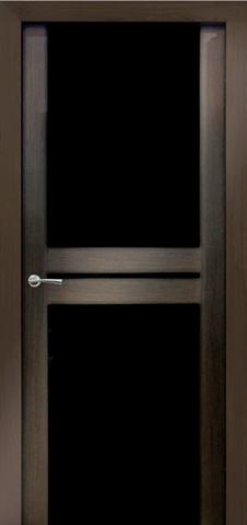 Дверь №10Х стекло черное (венге мелинга, остекленная экошпон), фабрика Profil Doors