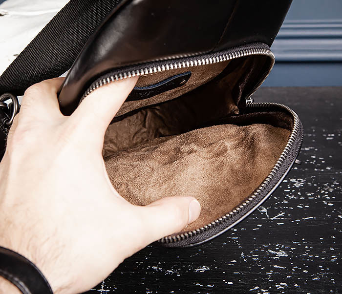 BAG537-1 «Плетеная» кожаная сумка через одно плечо фото 14