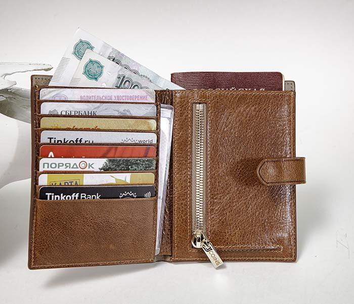 WL339-2 Портмоне для карточек, купюр и документов «Berger»