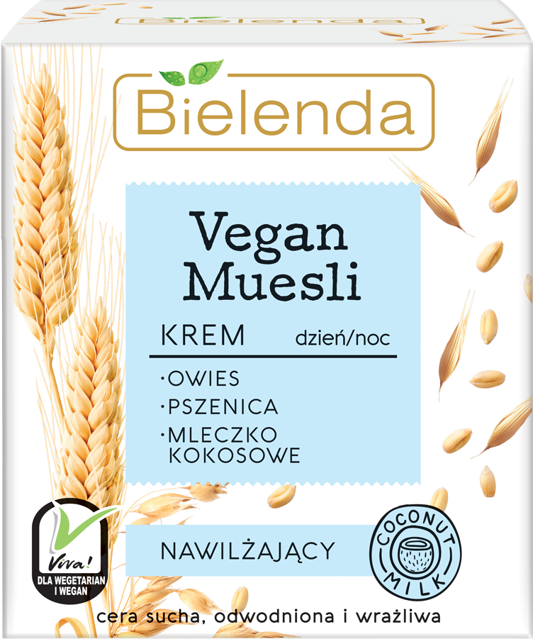 VEGAN MUESLI увлажняющий крем пшеница+ овёс+кокосовое молоко 50 мл