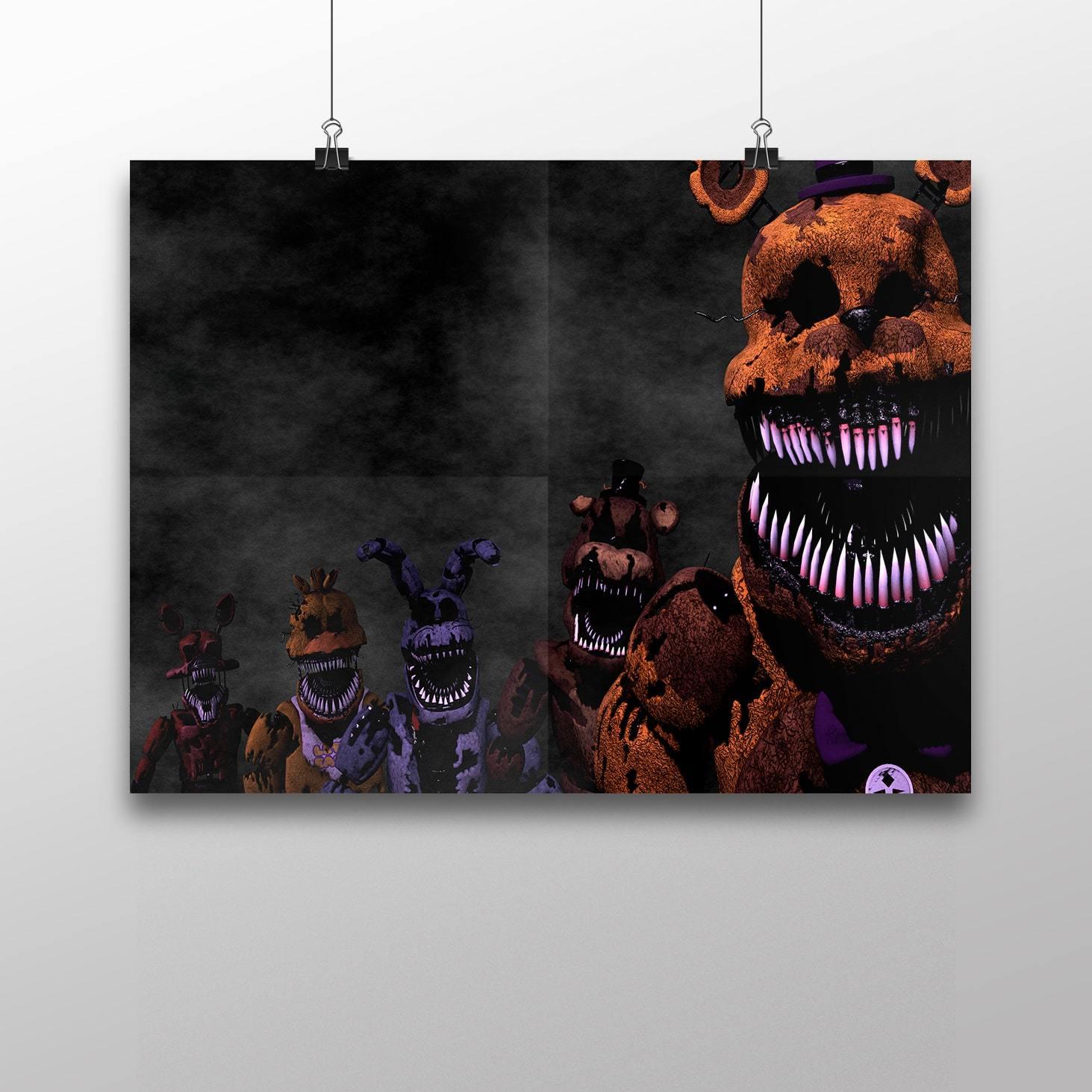 Плакат с героями ФНАФ №1 - купить в интернет-магазине kinoshop24.ru