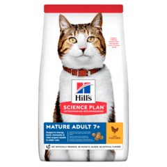 Корм для кошек от 7 лет Hill`s Science Plan Feline Mature Adult 7+ Active Longevity, с курицей
