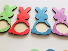 Для малышей 2 года Цветные зайки, Сенсорика