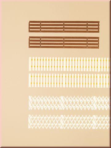 Деревянные заборы - 3 вида, (H0/TT)