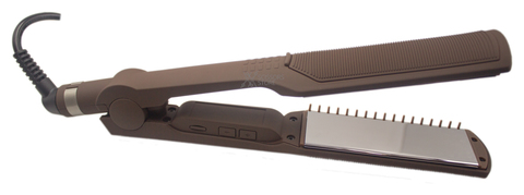 V171 Titanium Pro Brown | Утюжок с зеркальным титановым покрытием коричневый