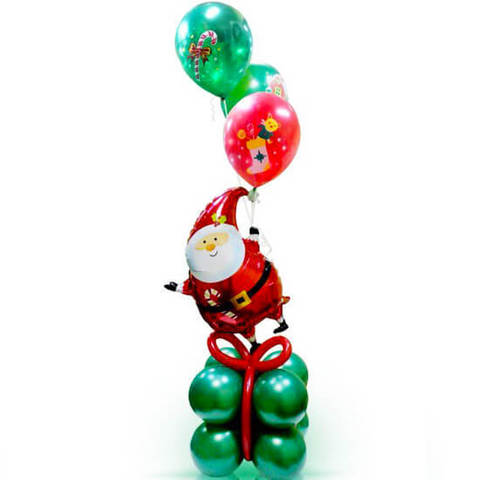 Фонтан Санта на подарке