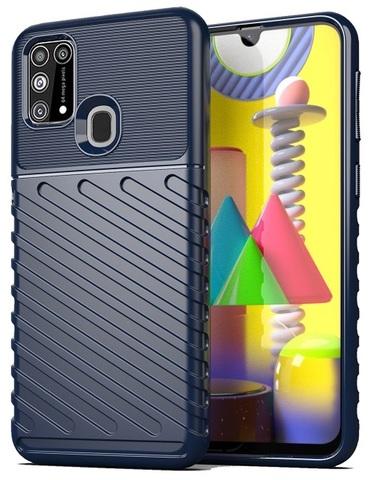 Защитный чехол темно-синего цвета на телефон Samsung Galaxy M31, серия Onyx от Caseport